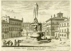 Fontana Nella Piazza De SS.Muti sotto il Campidoglio - Architettura di Giacomo della Porta