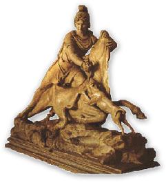 Rappresentazione scultorea della tauroctonia