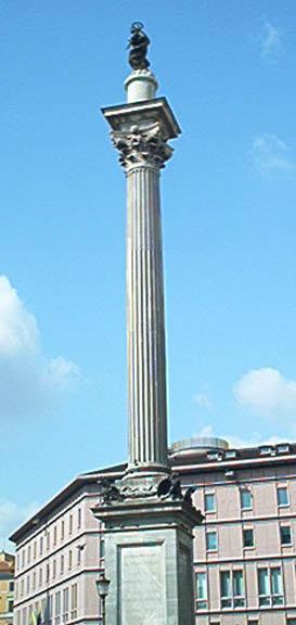 La colonna della Basilica di Massenzio